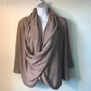 NWT Poetry Draped wrap-around cardigan size 6